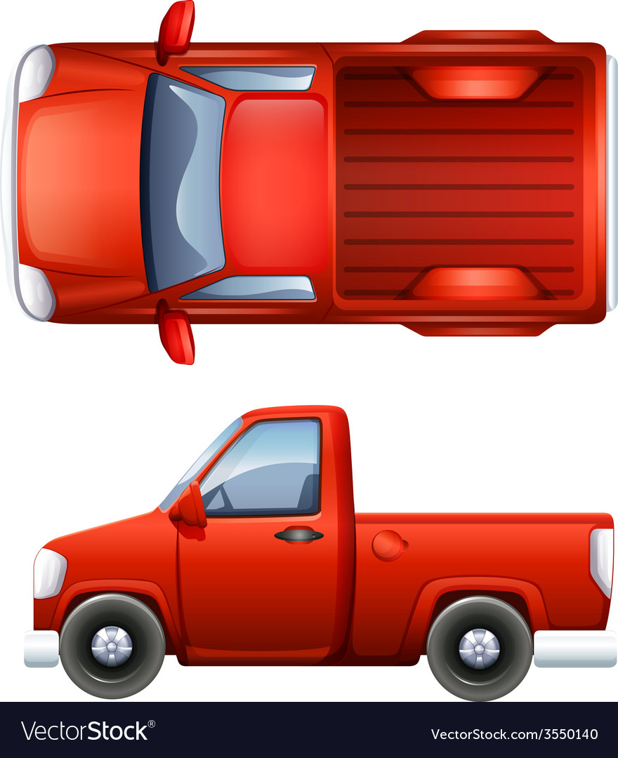 Pickup truck vector | Price: 1 Credit (USD $1)