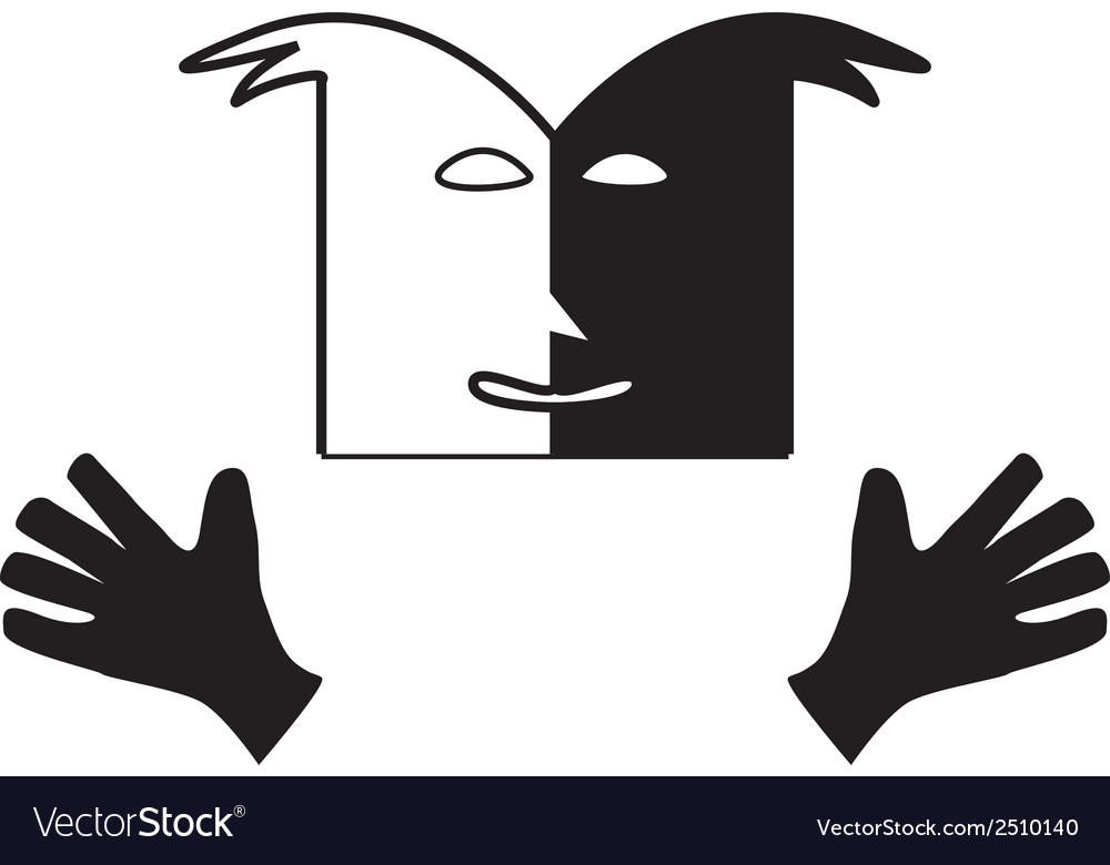 Theatre face symbol vector | Price: 1 Credit (USD $1)
