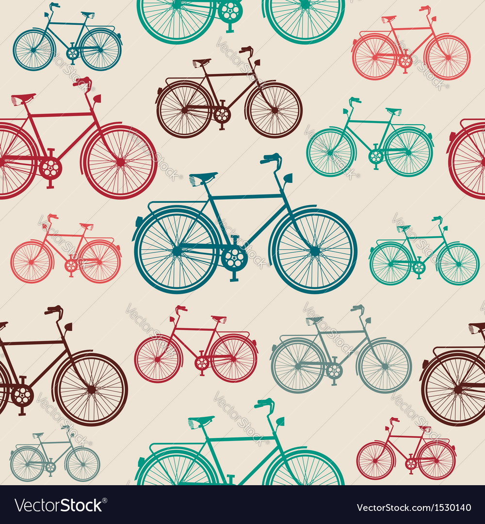 Vintage bike elements seamless pattern vector | Price: 1 Credit (USD $1)