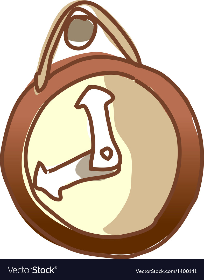 A clock is hung on a peg vector | Price: 1 Credit (USD $1)