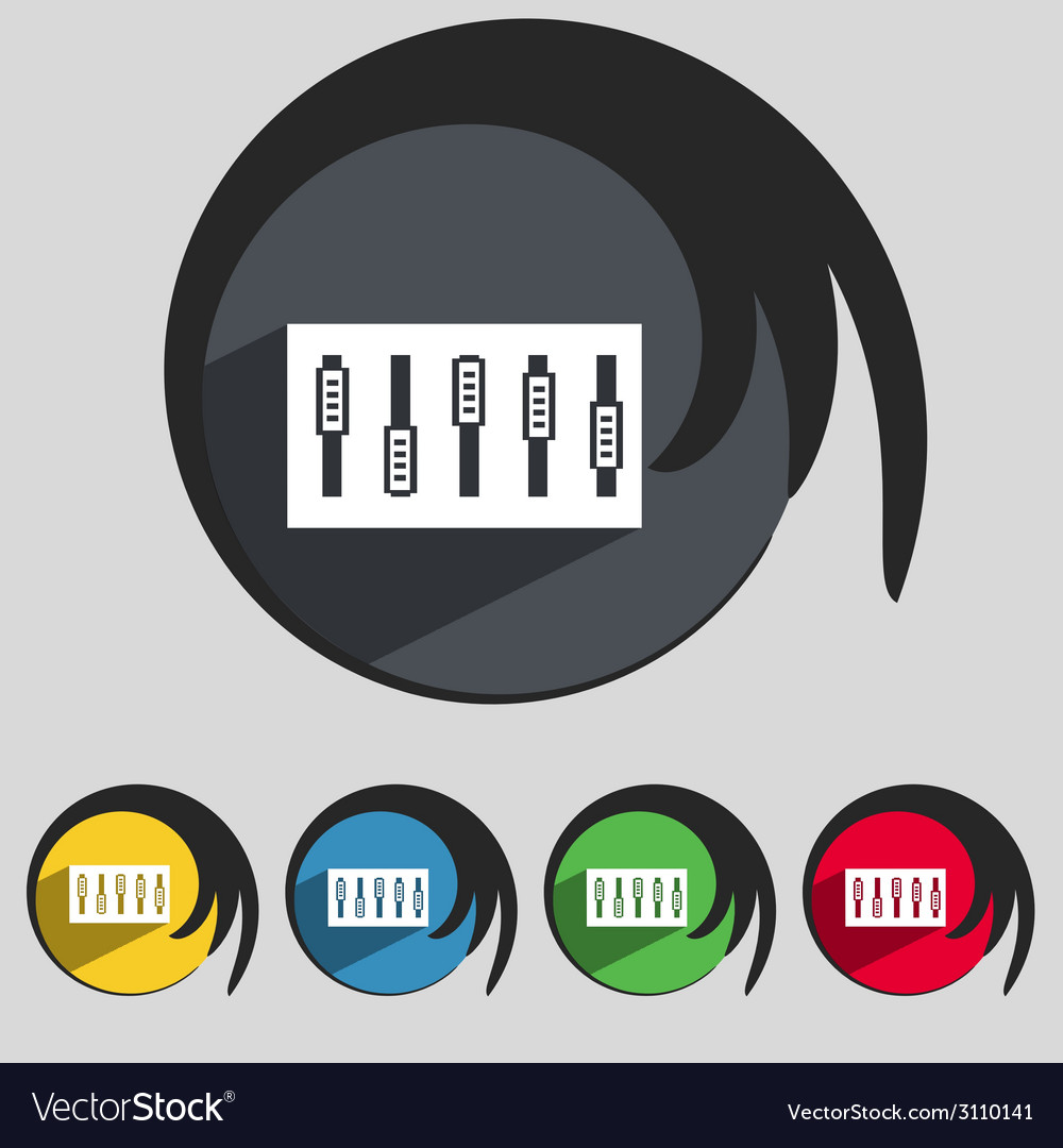 Dj console mix handles and buttons icon symbol vector | Price: 1 Credit (USD $1)