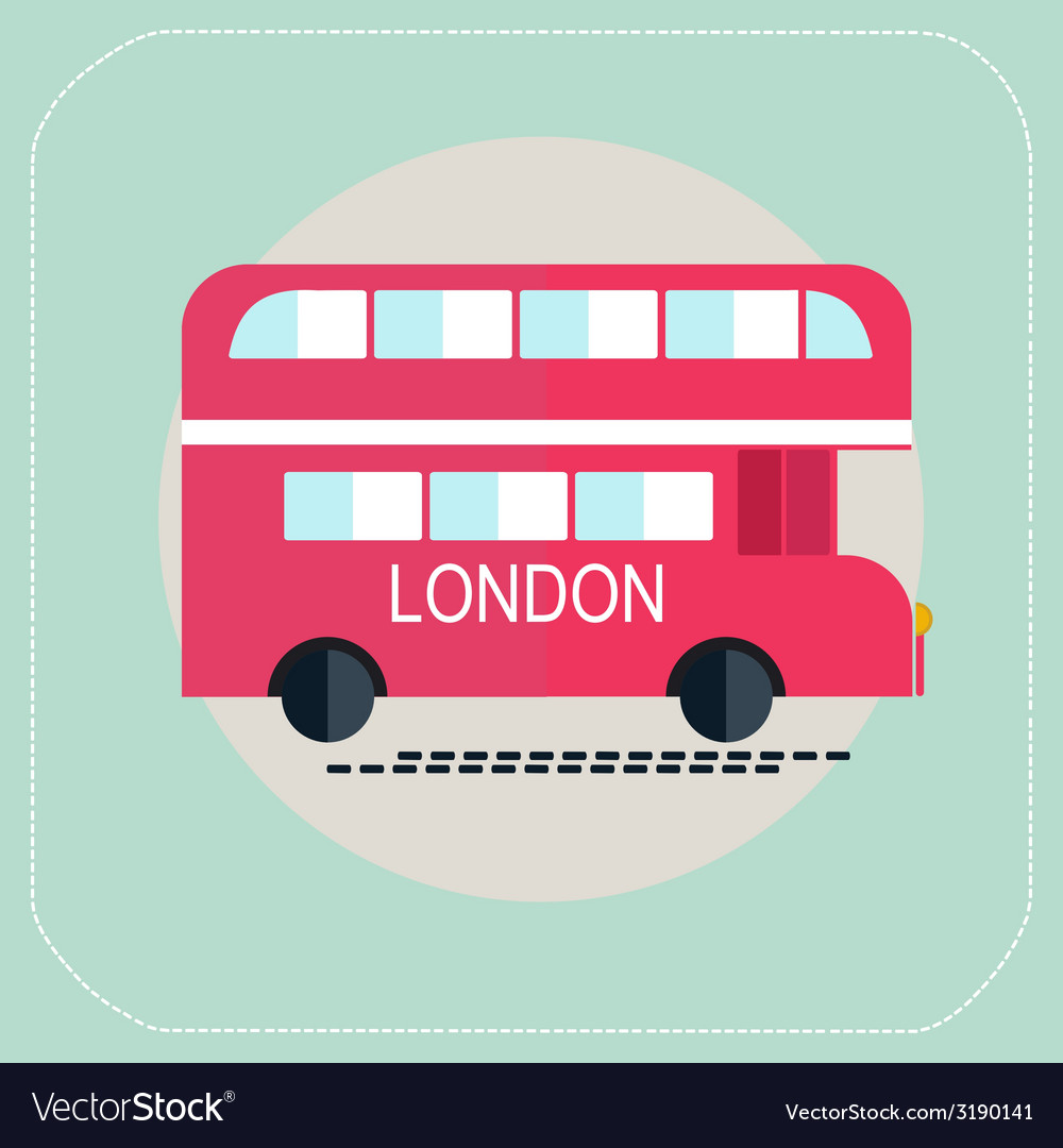 London bus icon flat vector | Price: 1 Credit (USD $1)