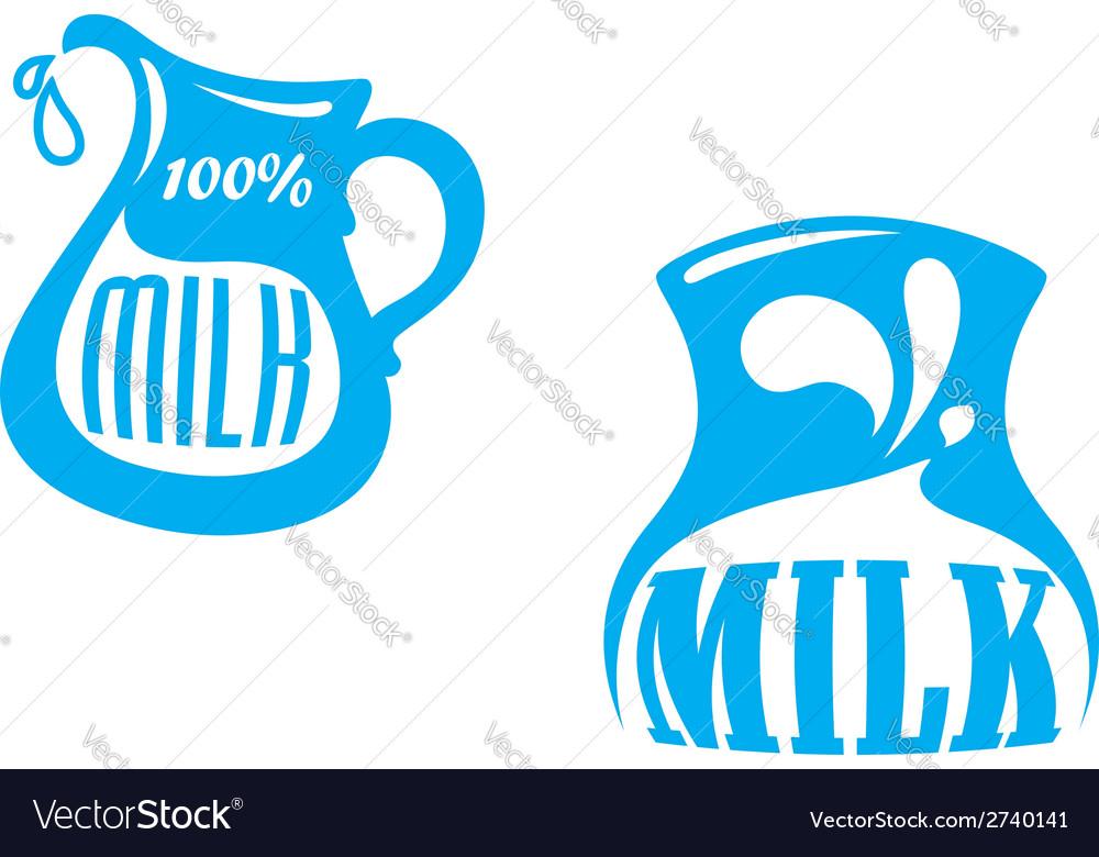 Milk emblems and symbols vector | Price: 1 Credit (USD $1)