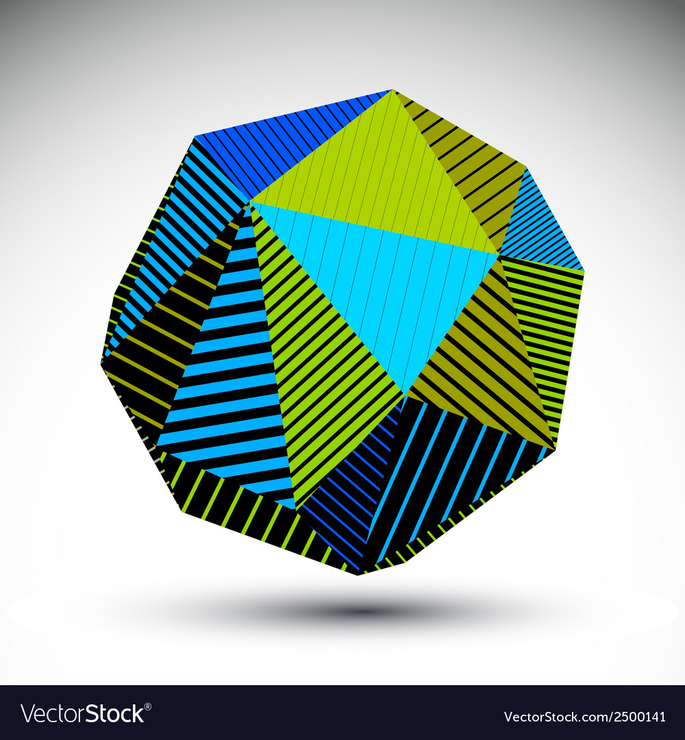 Vivid abstract 3d spatial contrast figure art vector | Price: 1 Credit (USD $1)