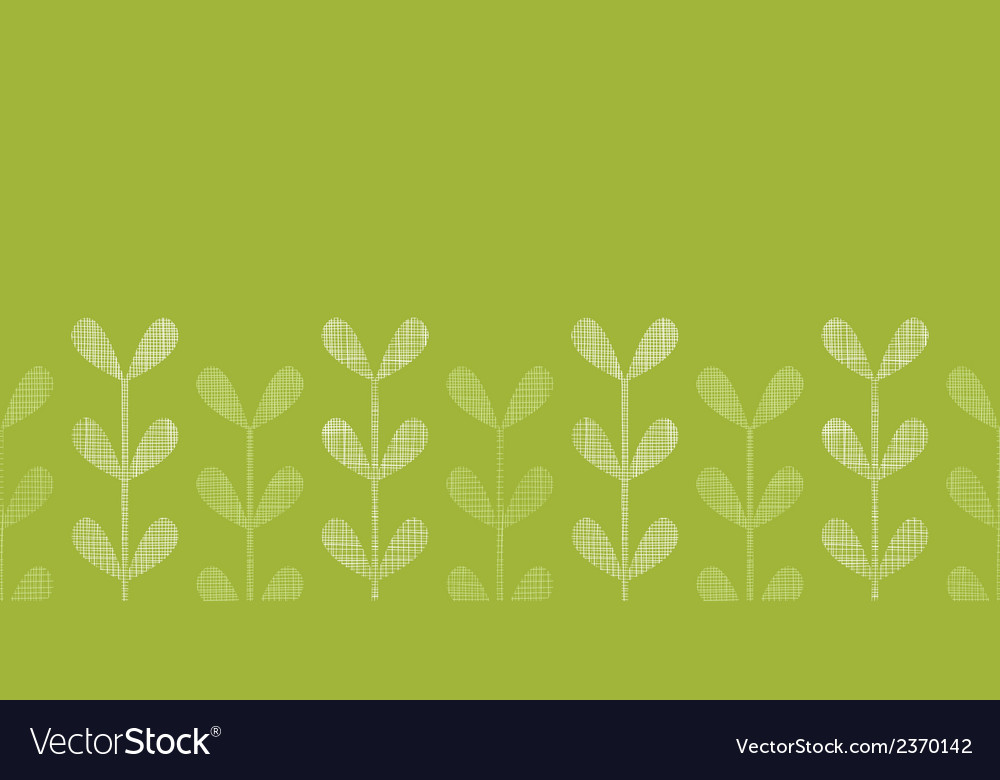 Abstract textile green vines leaves horizontal vector | Price: 1 Credit (USD $1)