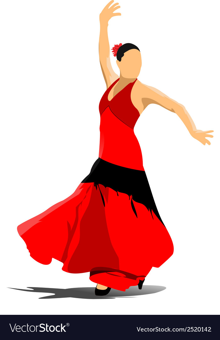 Al 0908 flamenco vector | Price: 1 Credit (USD $1)