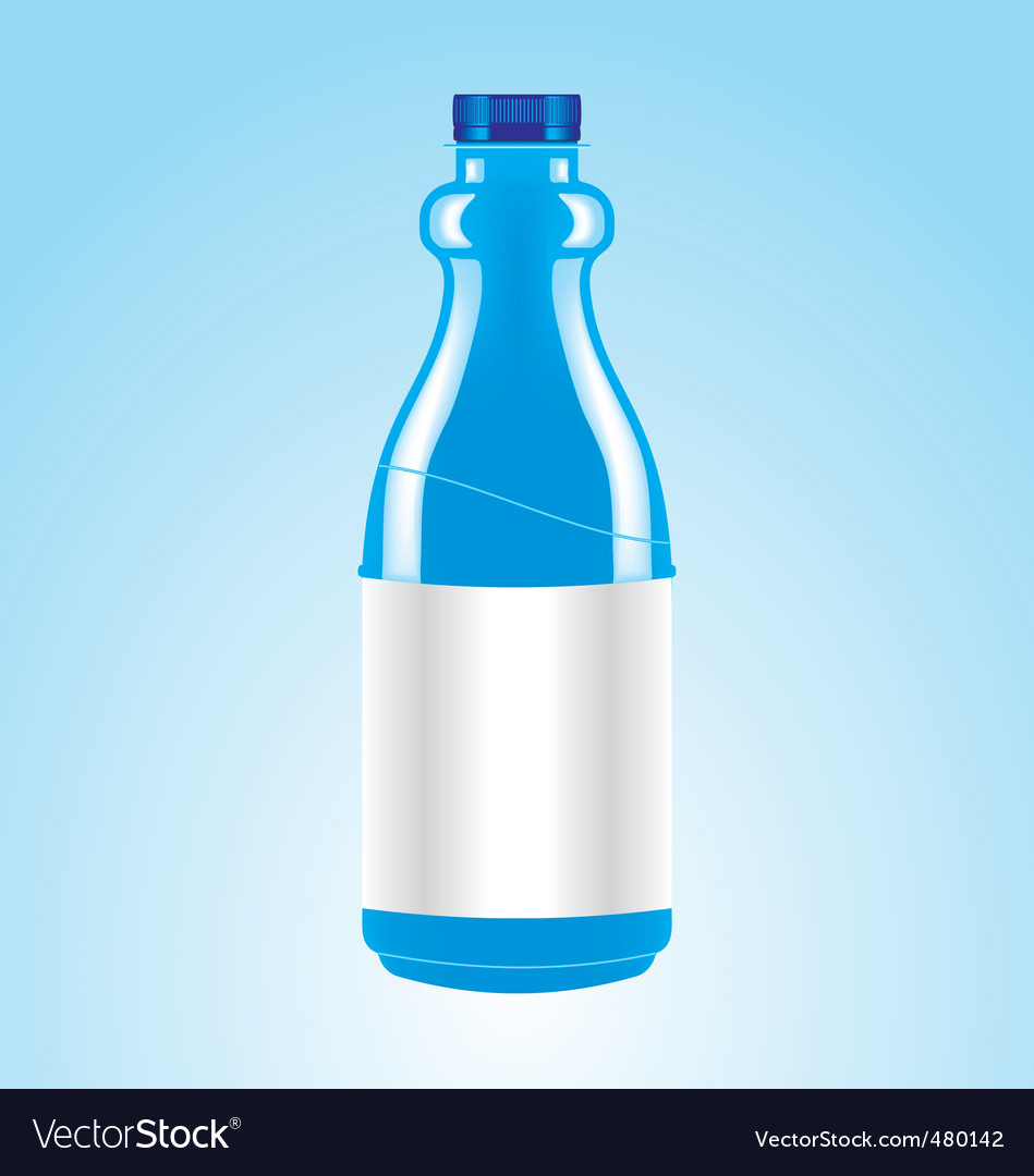 Blue bottle vector | Price: 1 Credit (USD $1)