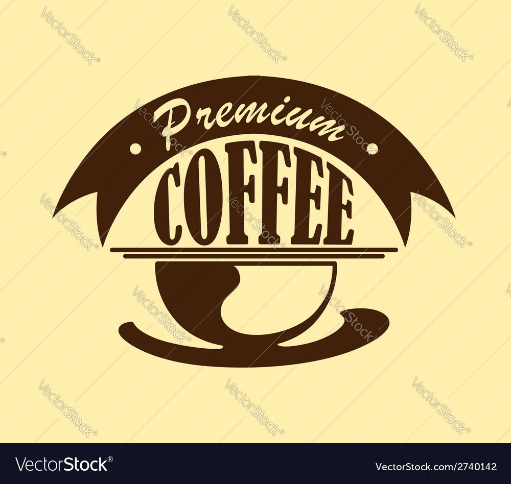 Coffee poster or icon vector | Price: 1 Credit (USD $1)