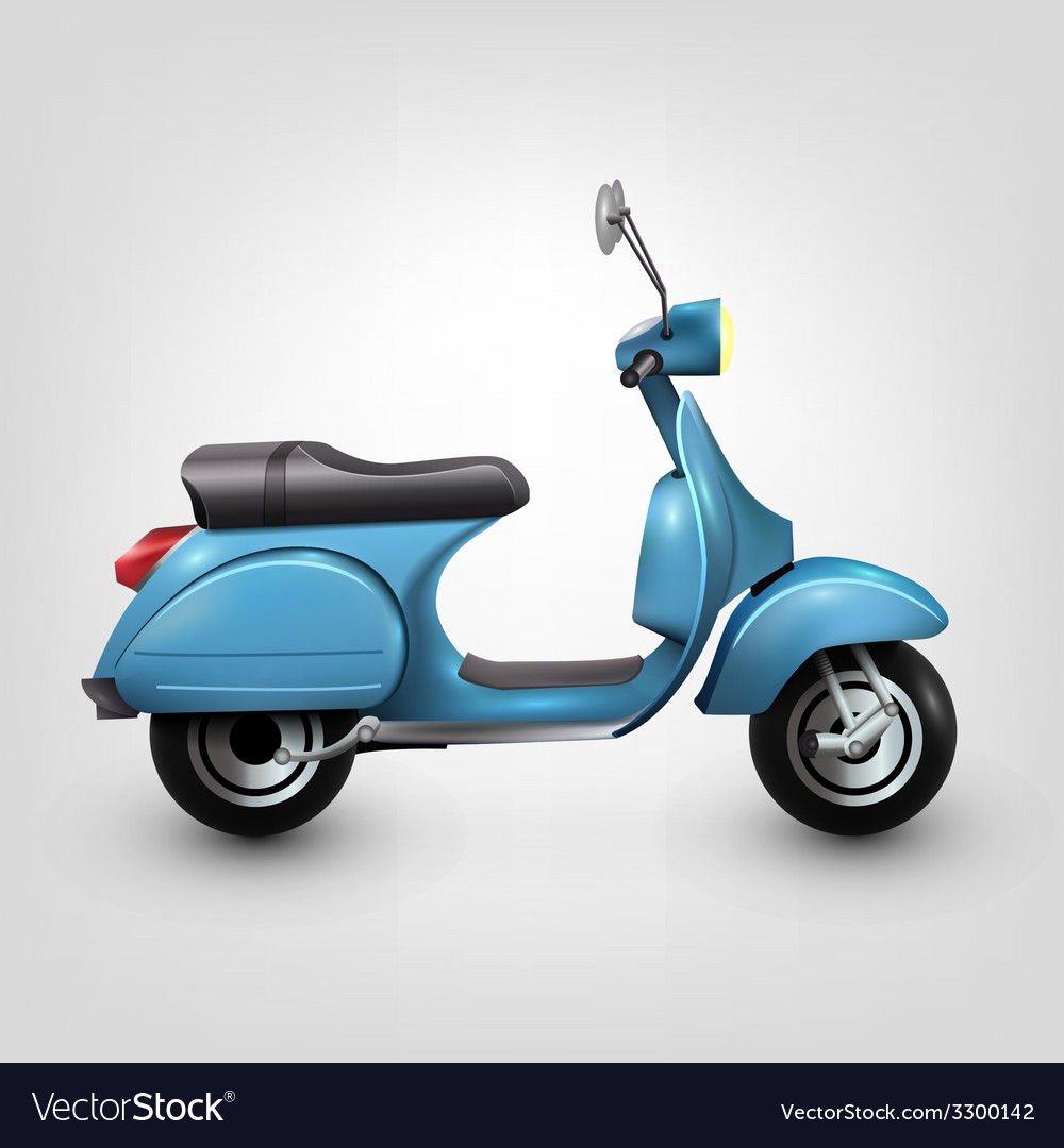 Cool blue scooter vector | Price: 1 Credit (USD $1)