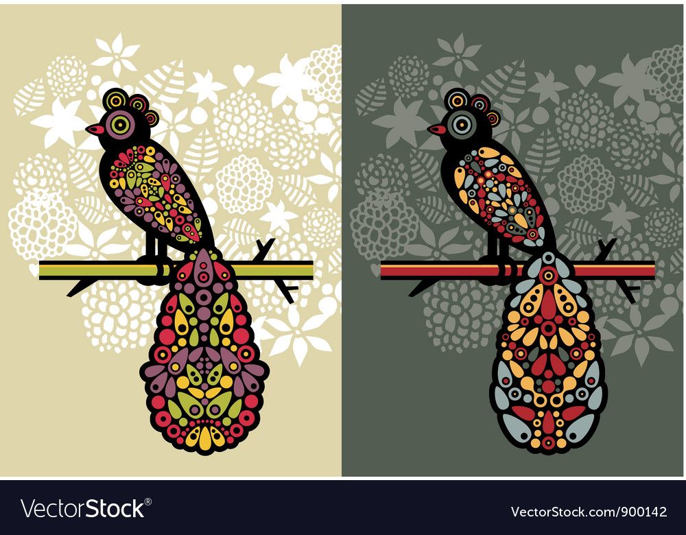 Decorative birds vector | Price: 1 Credit (USD $1)
