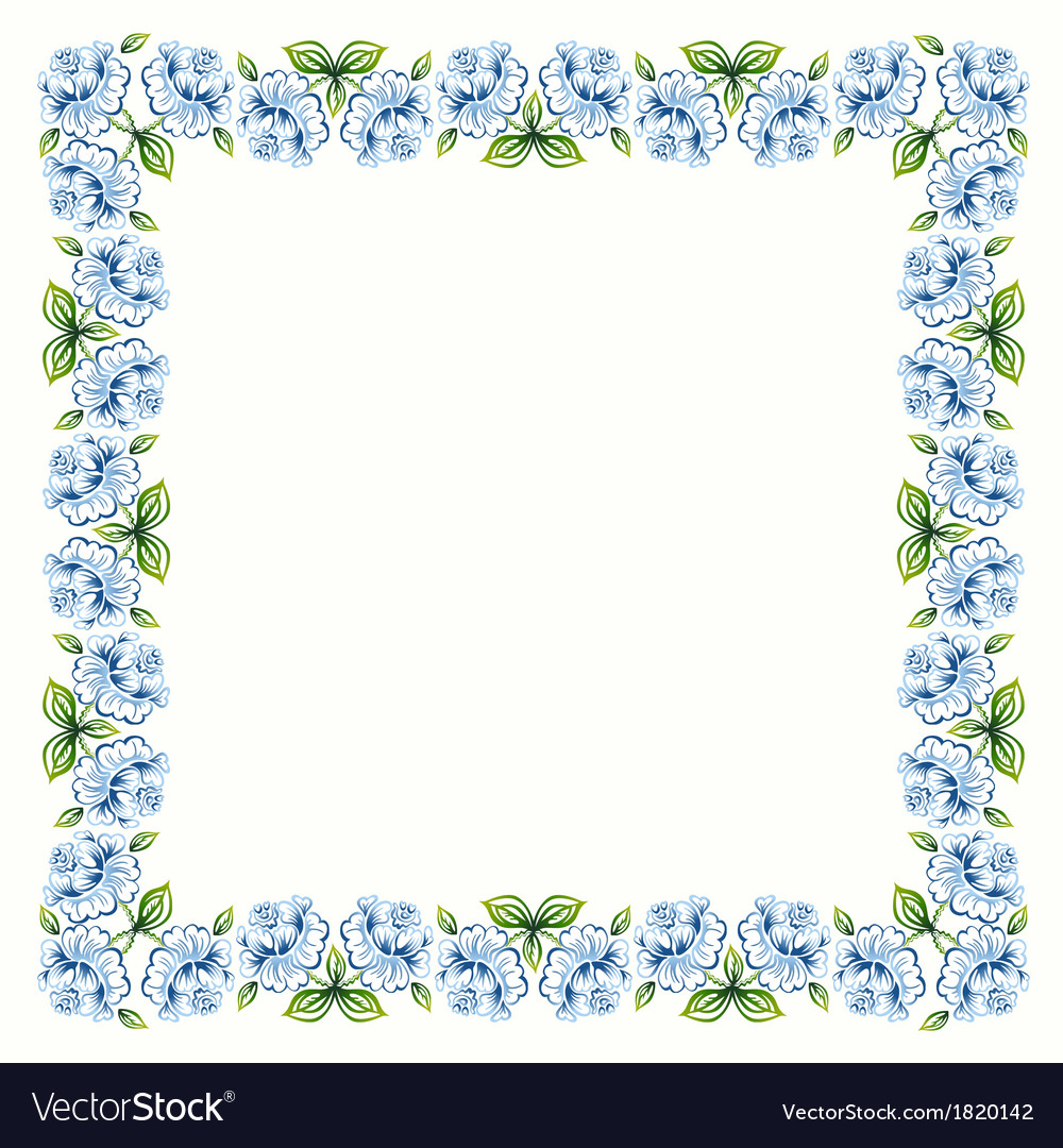 Decorative frame with roses vector | Price: 1 Credit (USD $1)