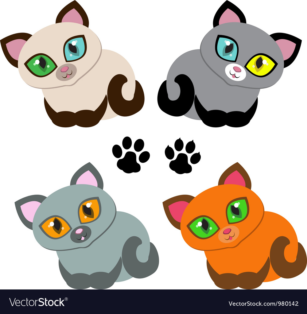 Kitties vector | Price: 1 Credit (USD $1)