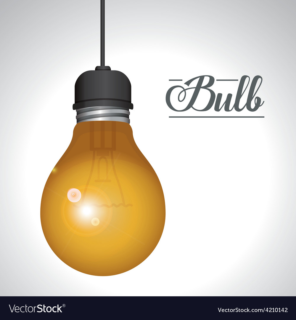 Light bulb design vector | Price: 1 Credit (USD $1)