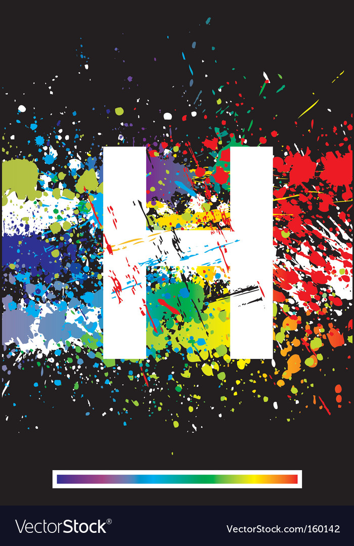 Paint splashes font vector | Price: 1 Credit (USD $1)