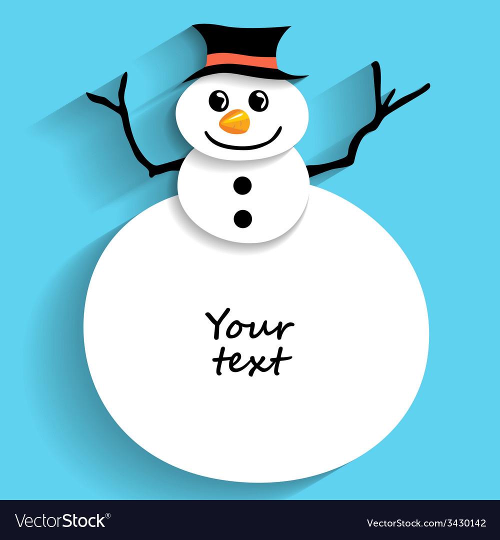 Snowman flat vector | Price: 1 Credit (USD $1)
