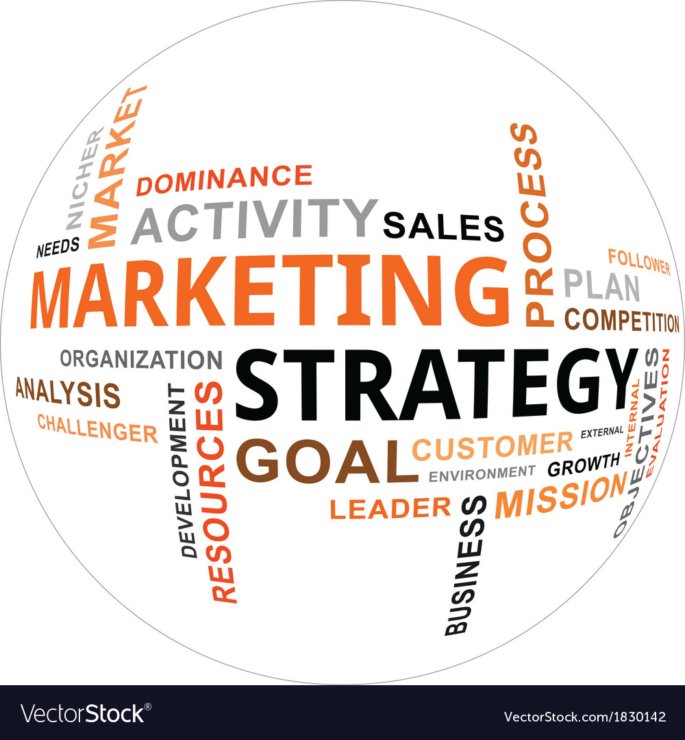 Word cloud marketing strategy vector | Price: 1 Credit (USD $1)