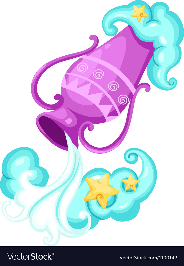 Zodiac signs - aquarius vector | Price: 1 Credit (USD $1)