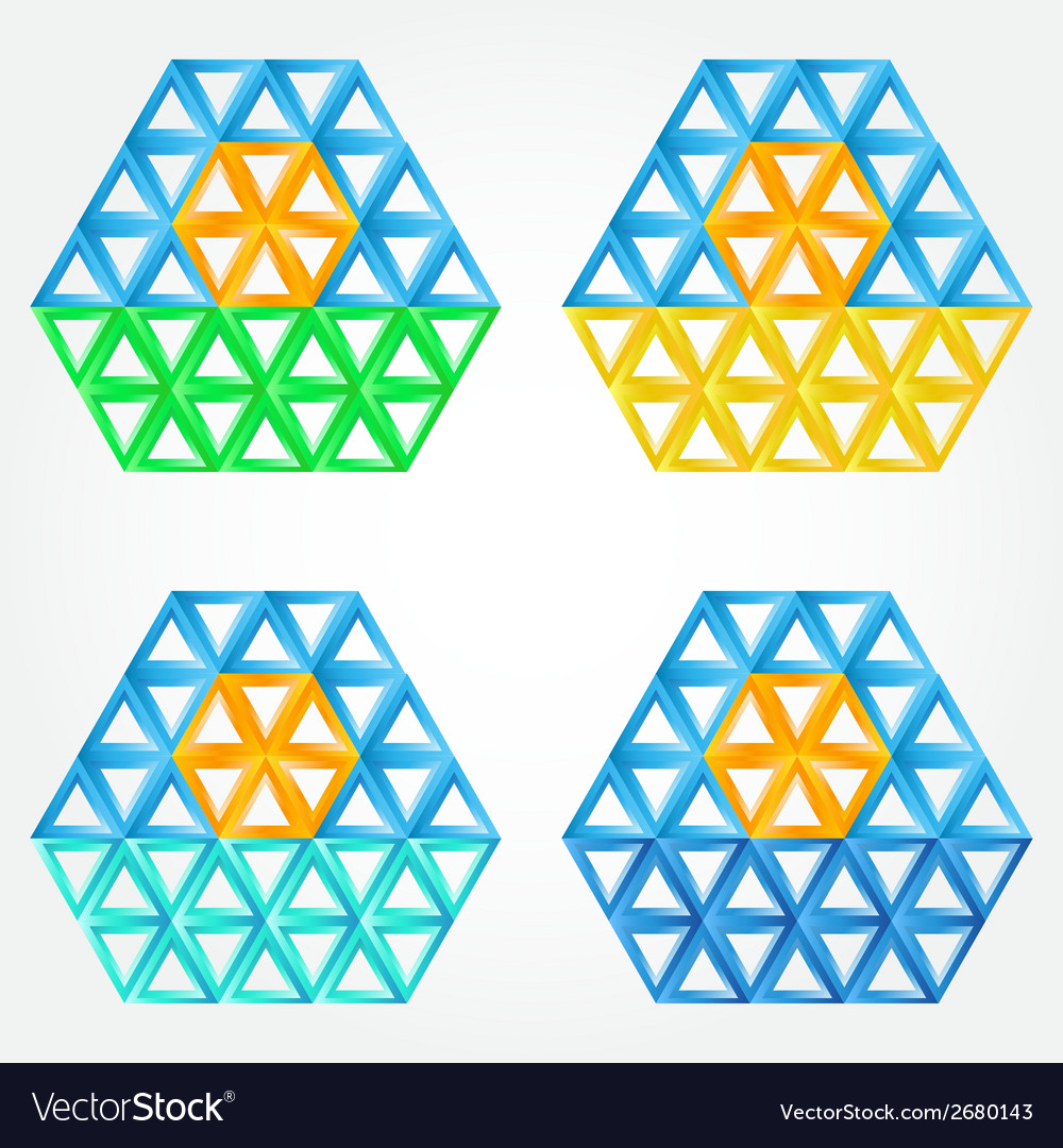 Abstract sun icons made by triangles - sun symbol vector | Price: 1 Credit (USD $1)
