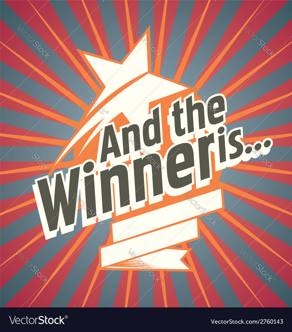 And the winner is vector | Price: 1 Credit (USD $1)