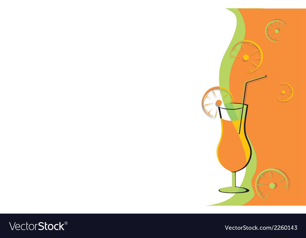 Drink card with oranges vector | Price: 1 Credit (USD $1)