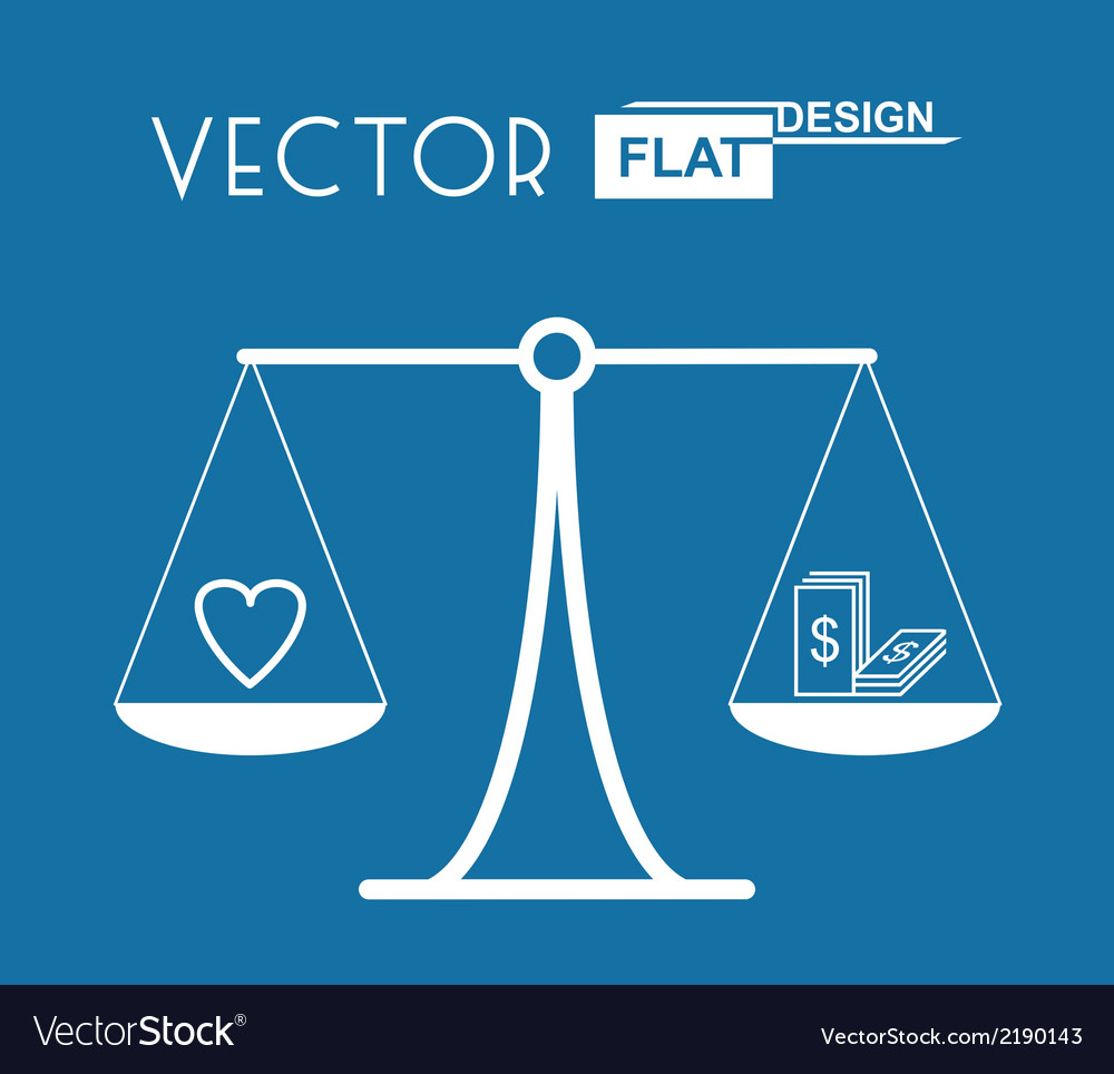 Flat balance symbol vector | Price: 1 Credit (USD $1)