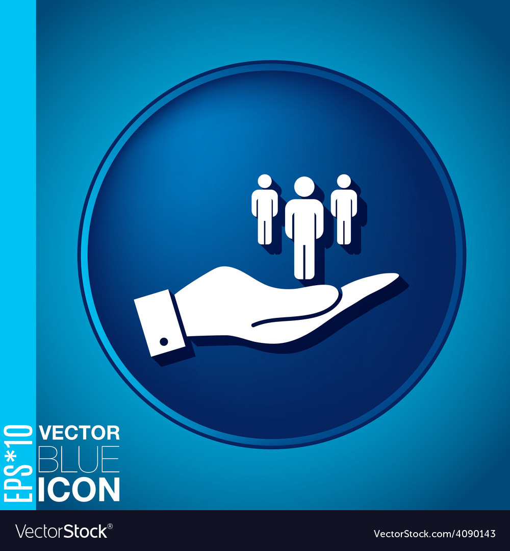Hand holding a silhouette of a men vector   Price: 1 Credit (USD $1)