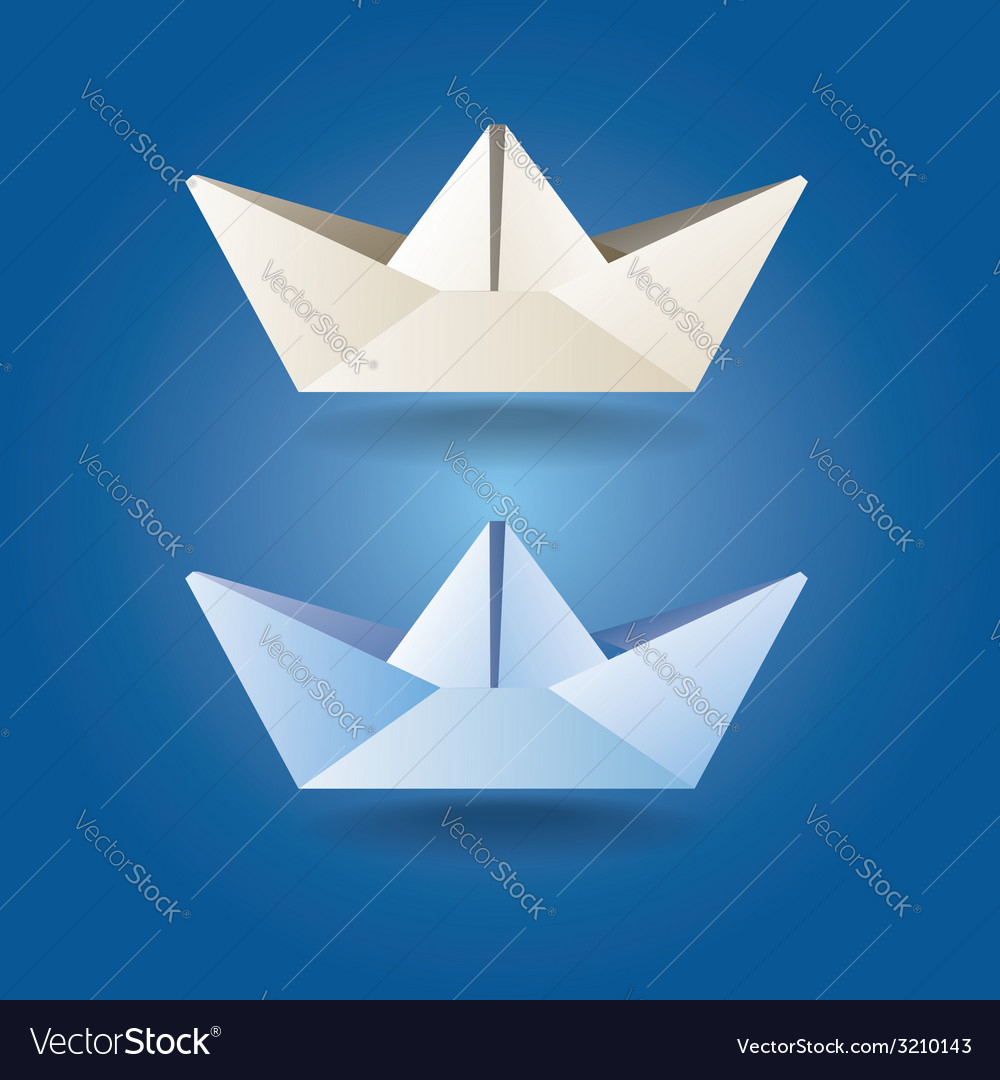 Paper boats soft colors vector | Price: 1 Credit (USD $1)