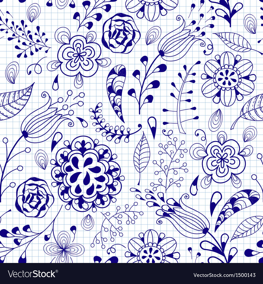 Seamless summer doodle vector | Price: 1 Credit (USD $1)