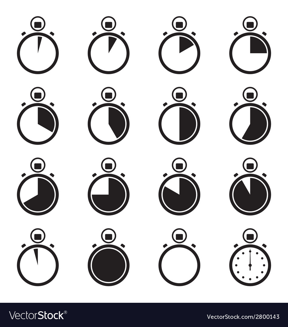 Set of stopwatch icons vector | Price: 1 Credit (USD $1)