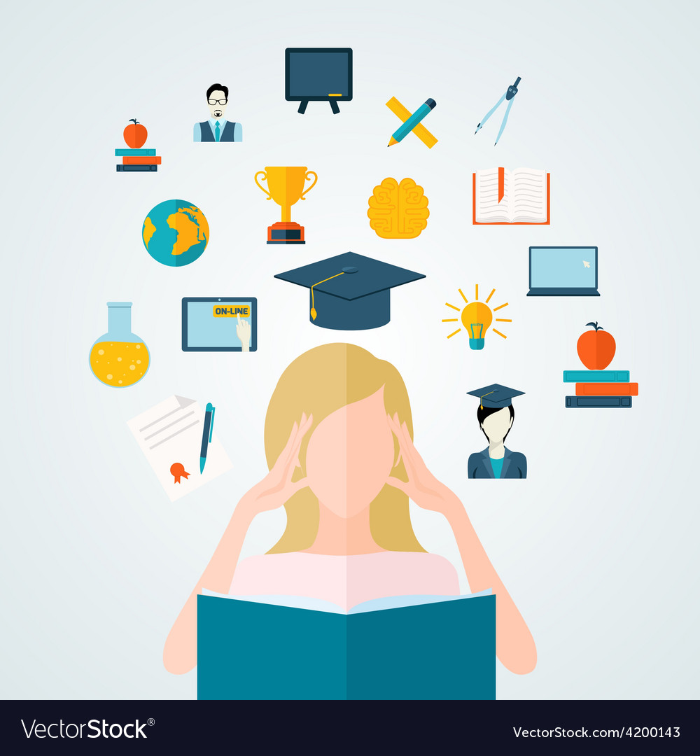 Student with book vector | Price: 1 Credit (USD $1)