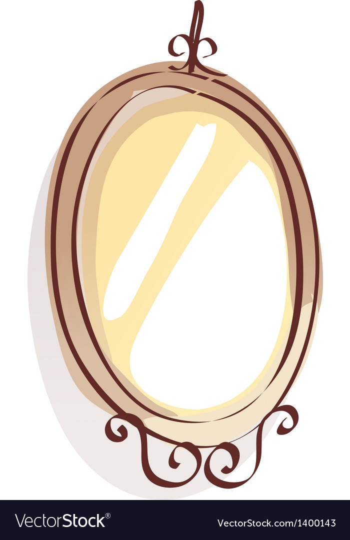 Vintage mirror style vector | Price: 1 Credit (USD $1)