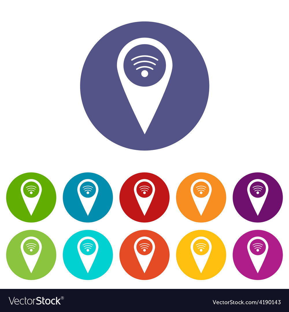 Wi-fi pointer flat icon vector | Price: 1 Credit (USD $1)