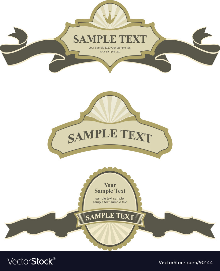 Banner and labels vector | Price: 1 Credit (USD $1)