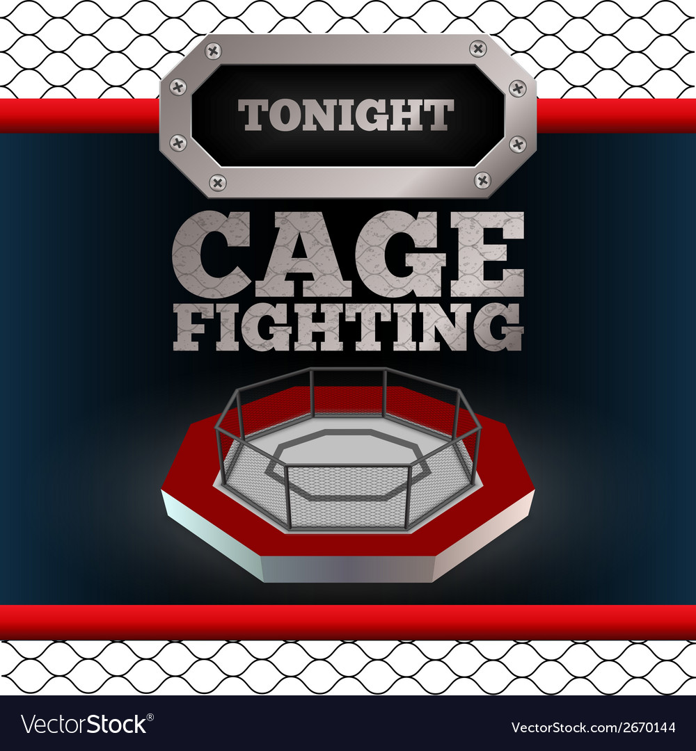 Cage fighting poster vector | Price: 1 Credit (USD $1)