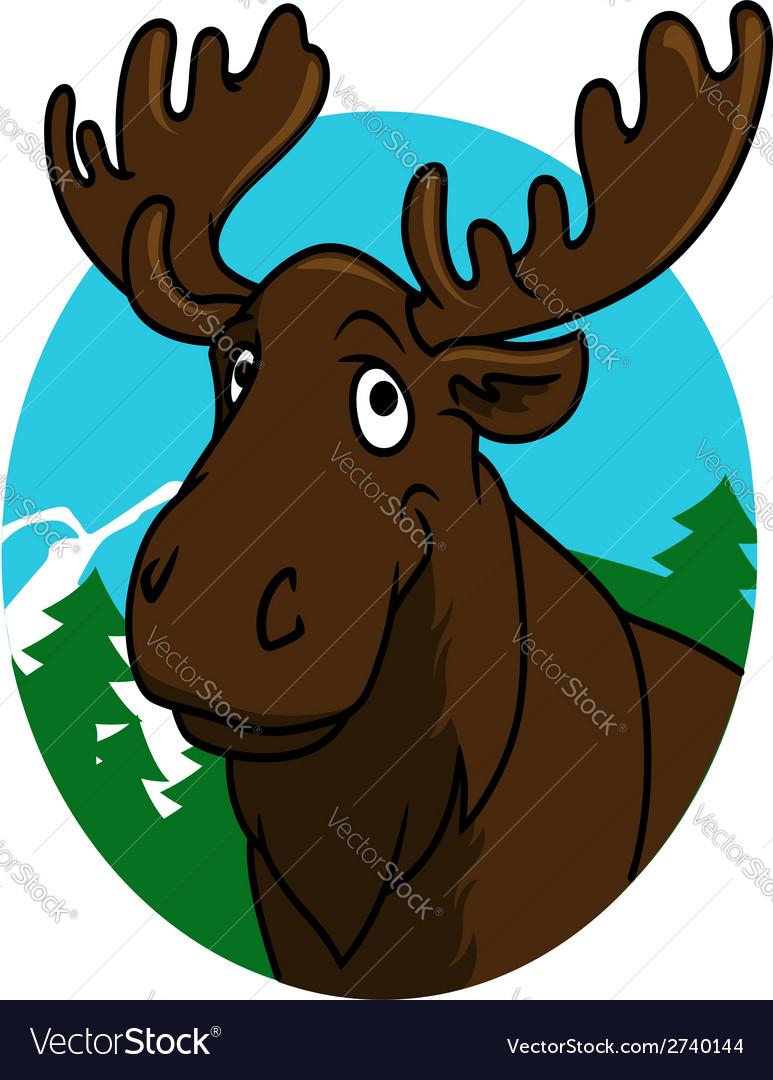Cartoon moose or elk vector   Price: 1 Credit (USD $1)
