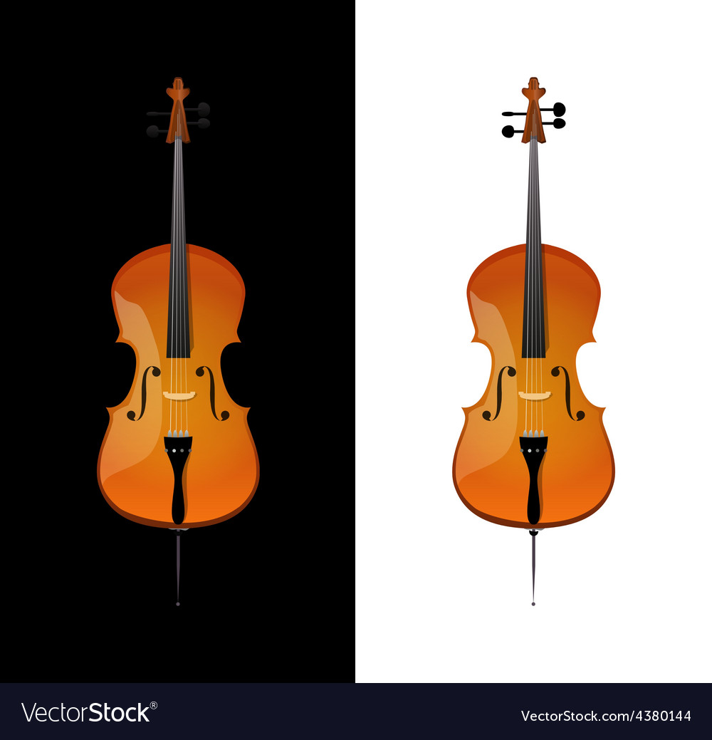 Cello in realistic style vector | Price: 1 Credit (USD $1)