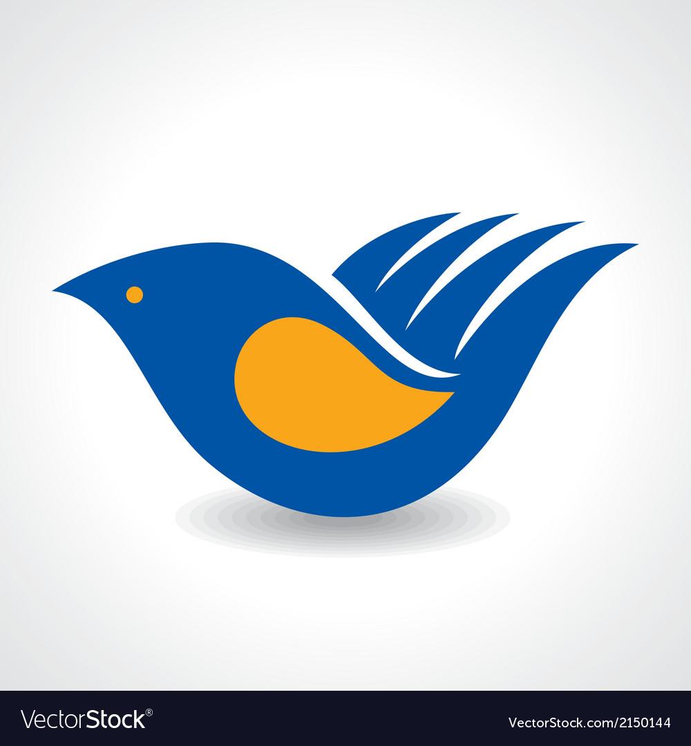 Creative idea - hand make a bird icon stock vector | Price: 1 Credit (USD $1)