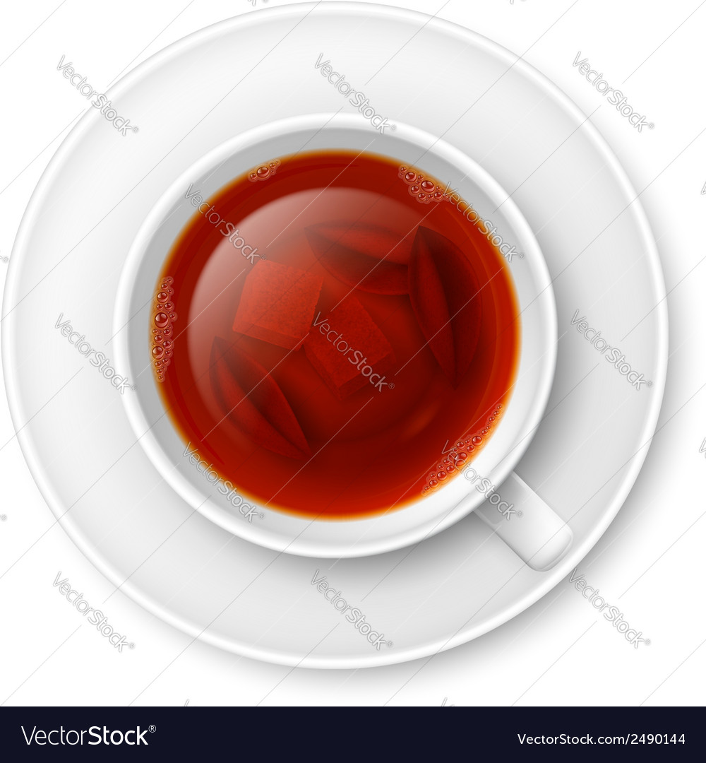 Cup of black tea vector | Price: 1 Credit (USD $1)
