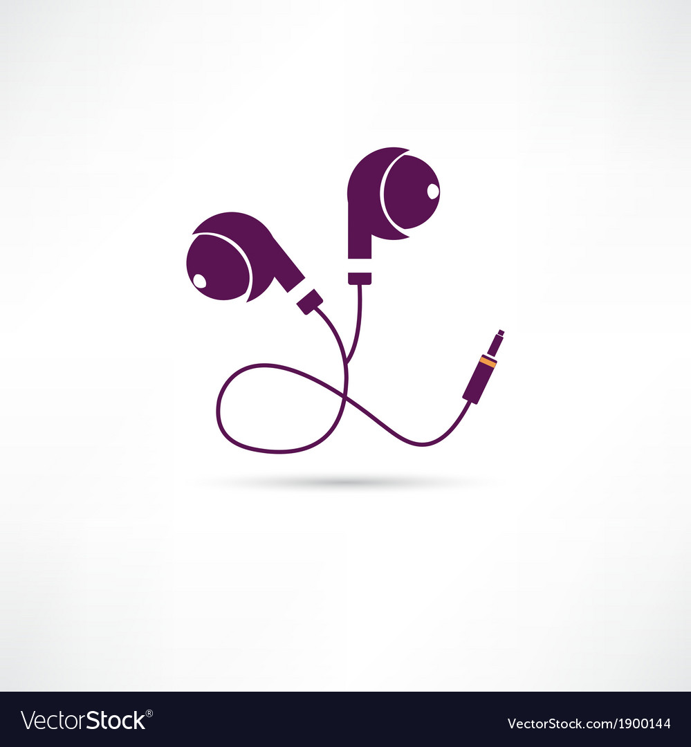 Earphone icon vector | Price: 1 Credit (USD $1)