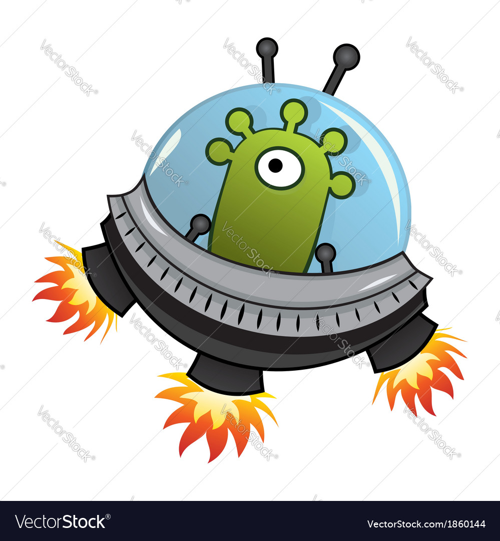 Flying saucer vector | Price: 1 Credit (USD $1)