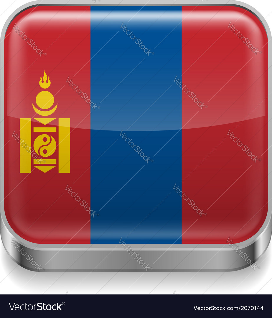 Metal icon of mongolia vector | Price: 1 Credit (USD $1)