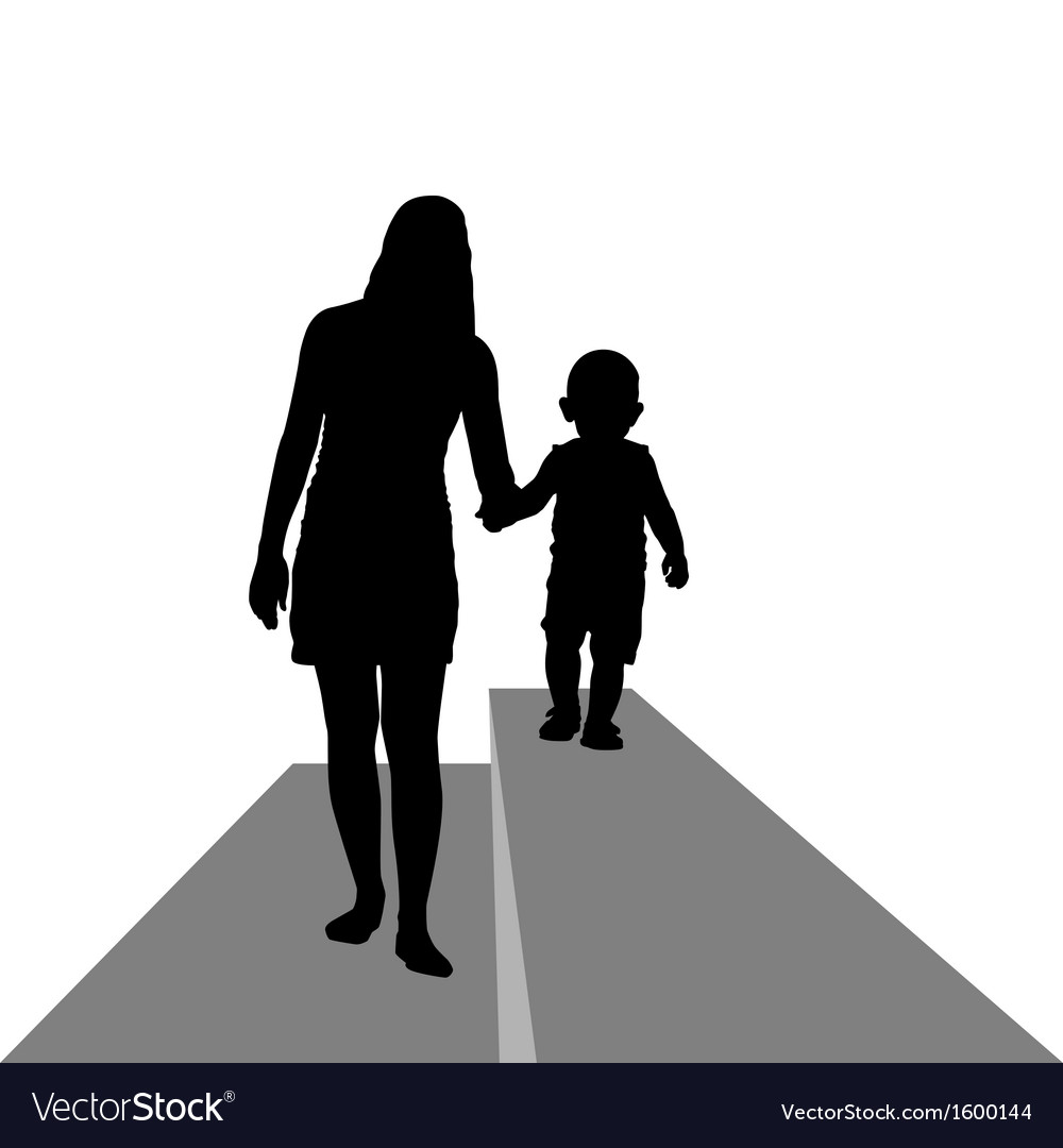Mum with the child vector | Price: 1 Credit (USD $1)