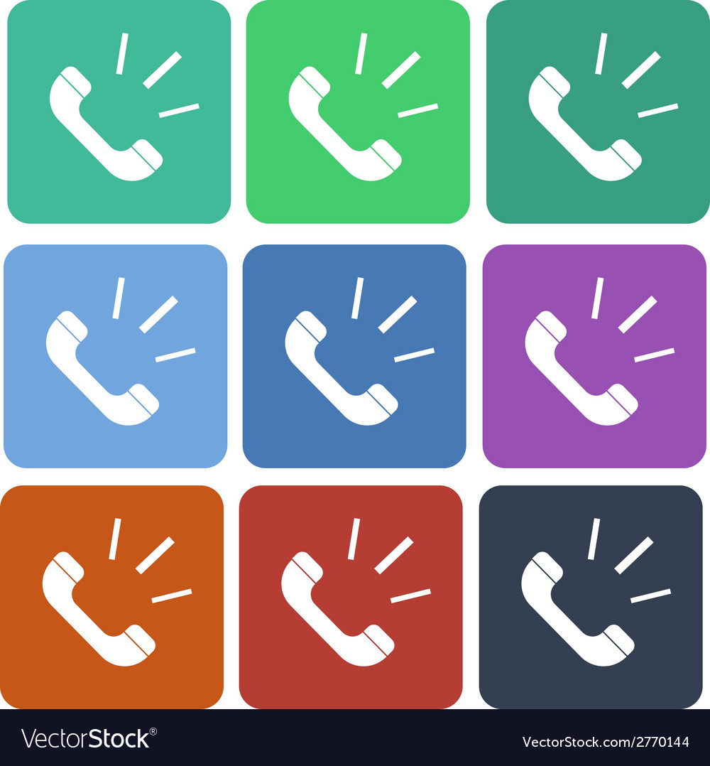 Phone call flat icon vector | Price: 1 Credit (USD $1)