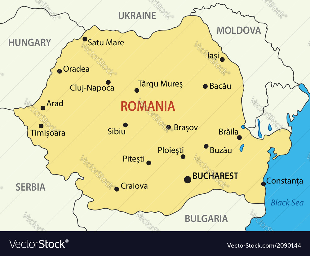 Romania - map vector | Price: 1 Credit (USD $1)