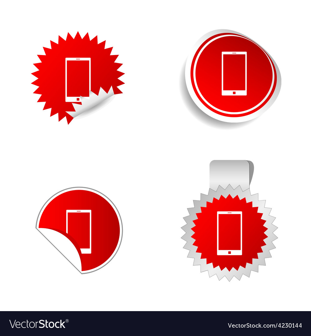 Telephone sticker red vector   Price: 1 Credit (USD $1)