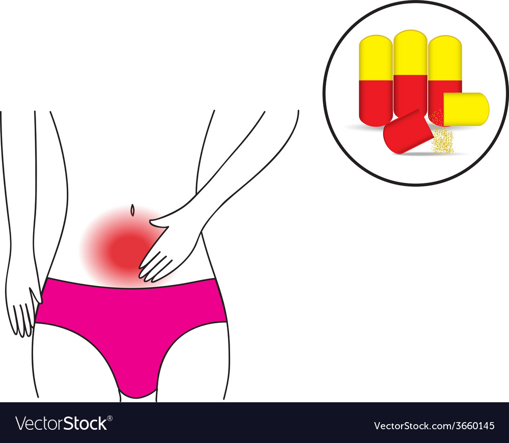 Abdominal pain and the pill 01 vector | Price: 1 Credit (USD $1)