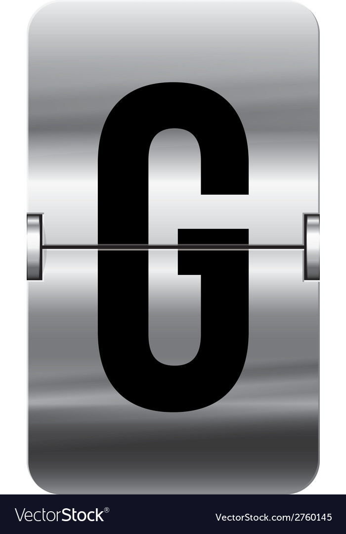 Alphabet silver flipboard letters g vector | Price: 1 Credit (USD $1)