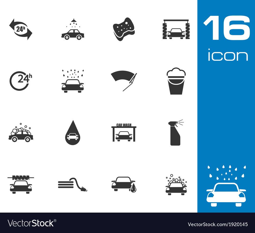 Black car wash icons set vector | Price: 1 Credit (USD $1)