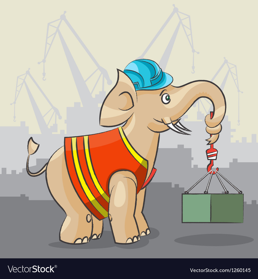 Elephant is a crane vector   Price: 3 Credit (USD $3)