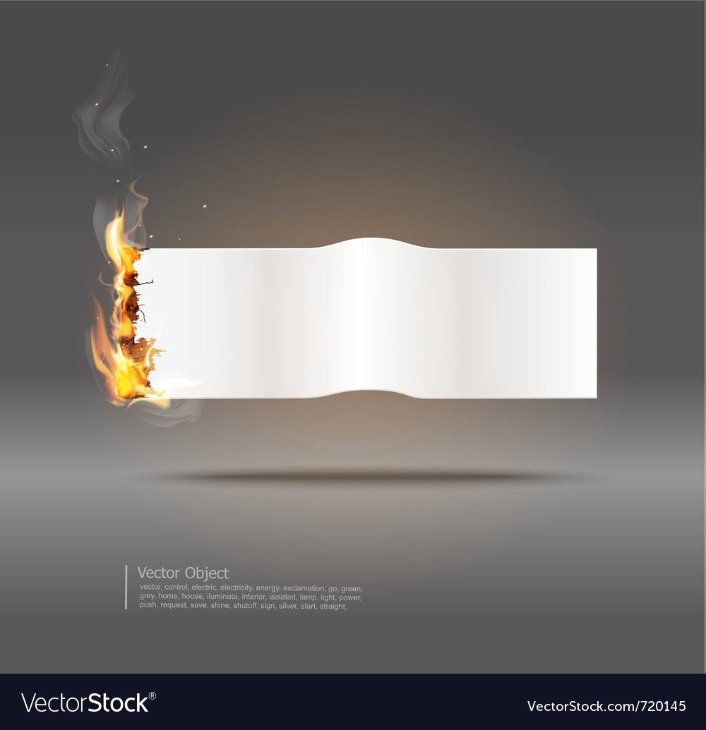 Glowing paper banner vector | Price: 1 Credit (USD $1)